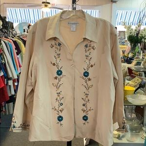 Size XL silk blouse